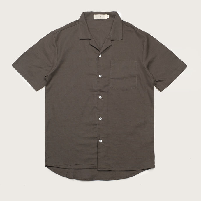 Relaxed Fit Grey Bowling Shirts