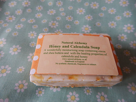 Honey and Calendula Soap (75g approx)