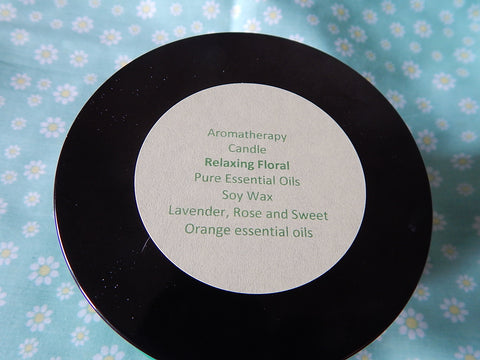 Aromatherapy Candle - Relaxing Floral