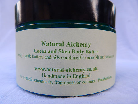 Unscented Body Butter - made with organic butters (170g)