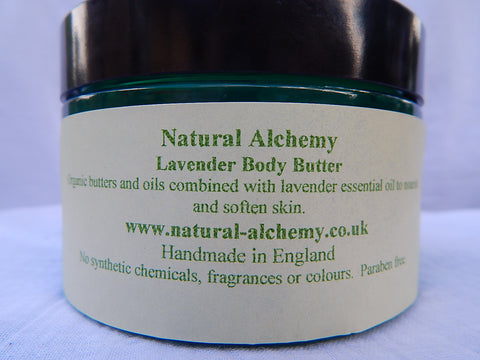 Lavender Body Butter - made with organic butters (170g)
