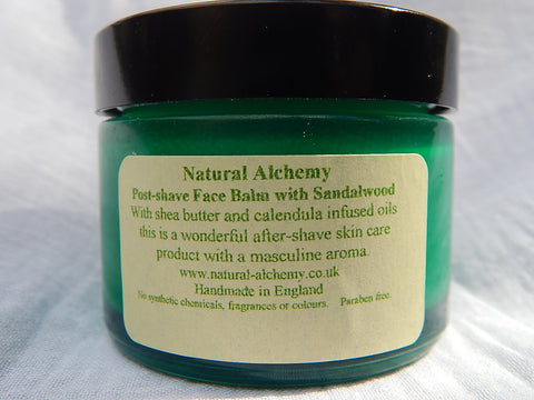 Post Shave Face Balm with Sandalwood (with organic shea butter) (50g)