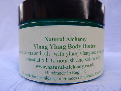 Ylang Ylang Body Butter - made with organic butters (170g)