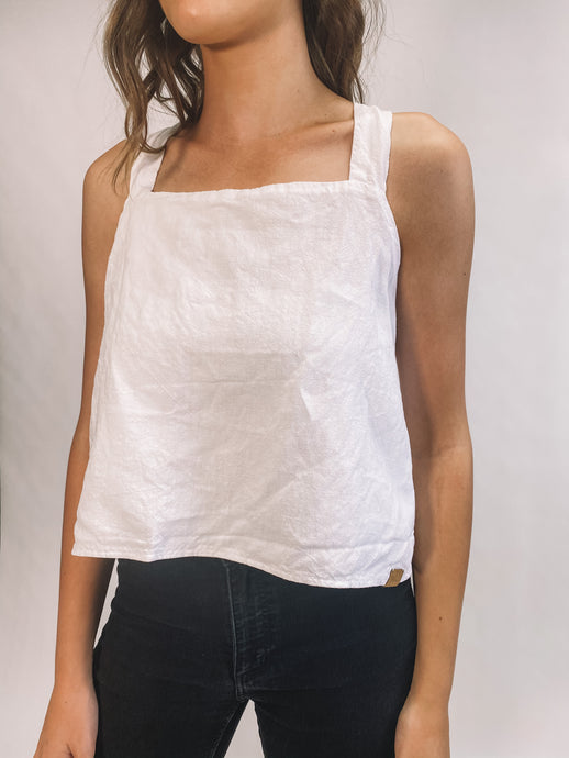 Linen Airlie Top - White