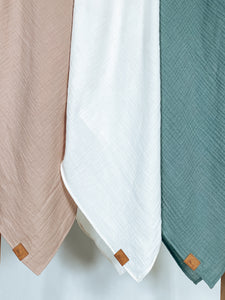 Organic Cotton Baby Blanket - Chai