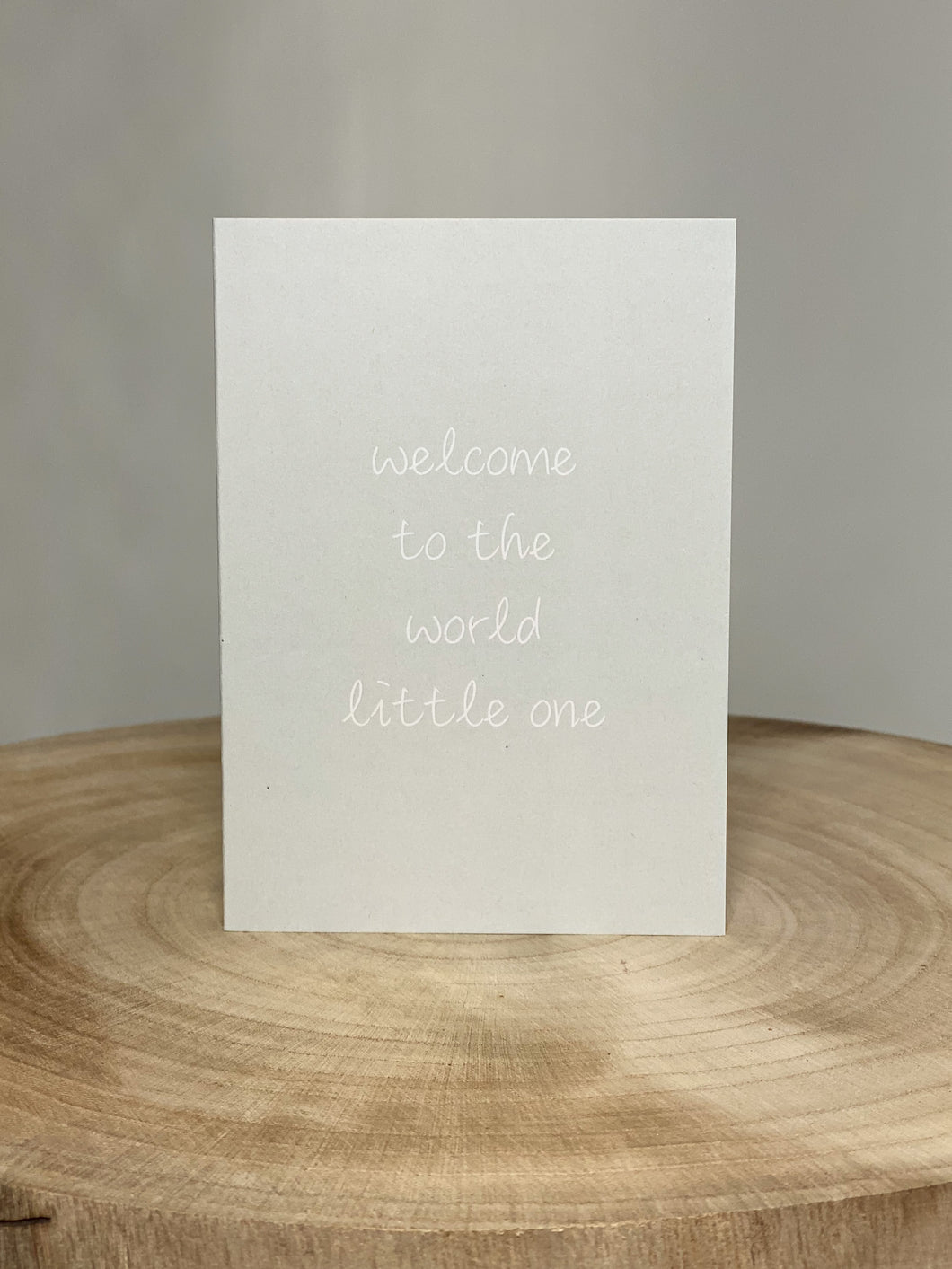 Welcome to the World Card - Green