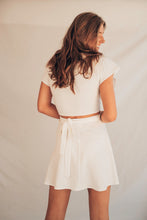 Load image into Gallery viewer, Short Wrap Skirt - White