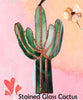 Stained Glass Cactus   -  Green Colored Glass