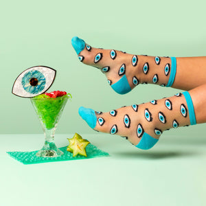 Eyes Sheer Socks - Available Soon