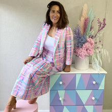 Load image into Gallery viewer, Pastel Dreams Plaid Jacket