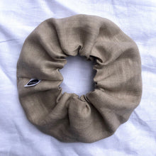 Load image into Gallery viewer, Latte Linen Scrunchie