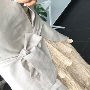Nisantasi Linen Jacket - latte