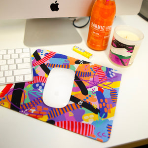 Neon Explosion Mouse Pad