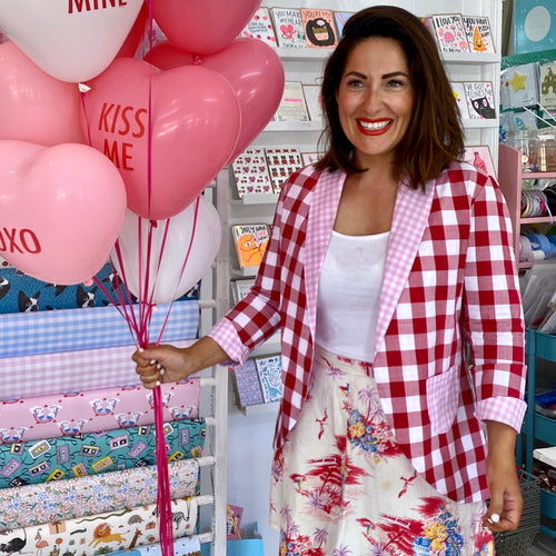 Love Bug Jacket - Red and Pink Gingham