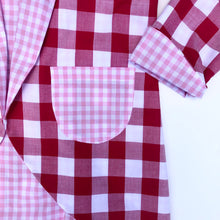 Load image into Gallery viewer, Love Bug Jacket - Red and Pink Gingham