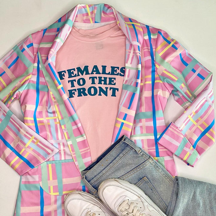 Females to the Front - Soft Pink + Teal