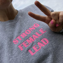 Load image into Gallery viewer, STRONG FEMALE LEAD Sweater (Steel and Hot P!NK)