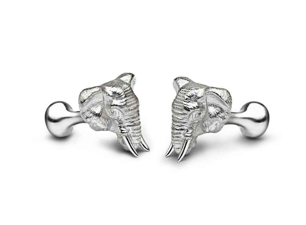 Gourma Elephant cufflinks for TUSK