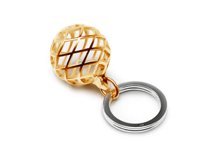 Keyring In Gold Plated Silver