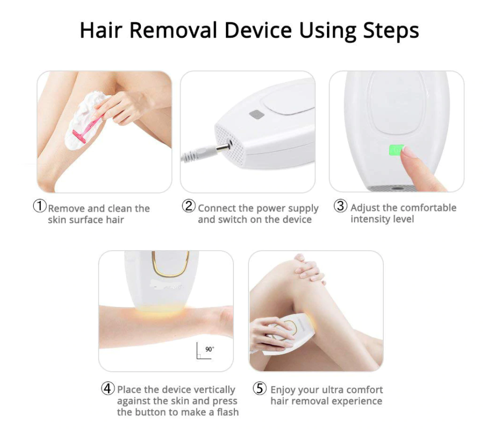 LushSkin- IPL Hair Removal- At Home Hair Removal