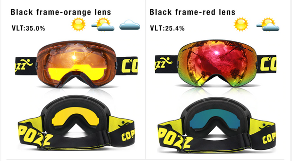 Copozz Ski Goggles - Snow boarding - Skating- Winter sports gear