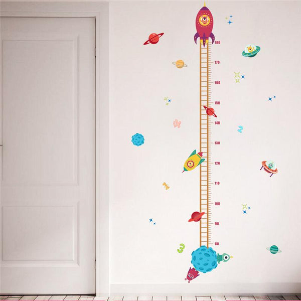 DIY Outer Space Rocket Growth Chart - Baby Nursery Wall Decals - ChicShines