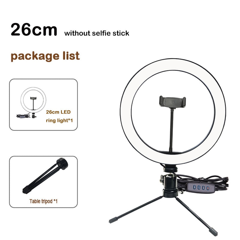 3 in 1 Selfie/Tripod 10 Inch LED Ring Light - ChicShines
