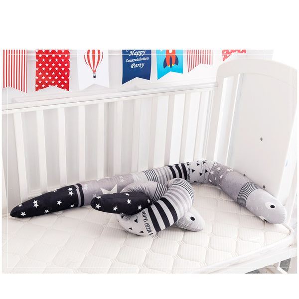 Baby Crib Bumper Cute Snake Pillow- 150 CM - ChicShines