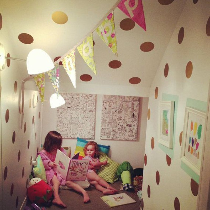 Gold polka Dots Wall Sticker Wall Art Decals - ChicShines