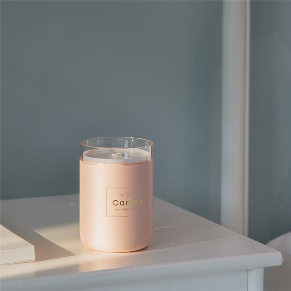 Candle Air Humidifier Ultrasonic Aroma Diffuser - ChicShines