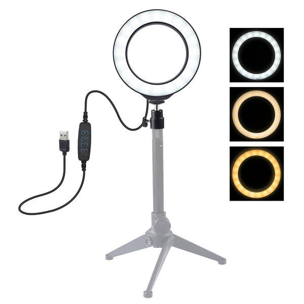 Ring Photography Lights - 12cm USB 3 Modes Dimmable LED (Tripod not Included) - ChicShines