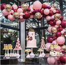 Baby Pink Burgundy Balloons Garland Arch Kit - 112 ct - ChicShines