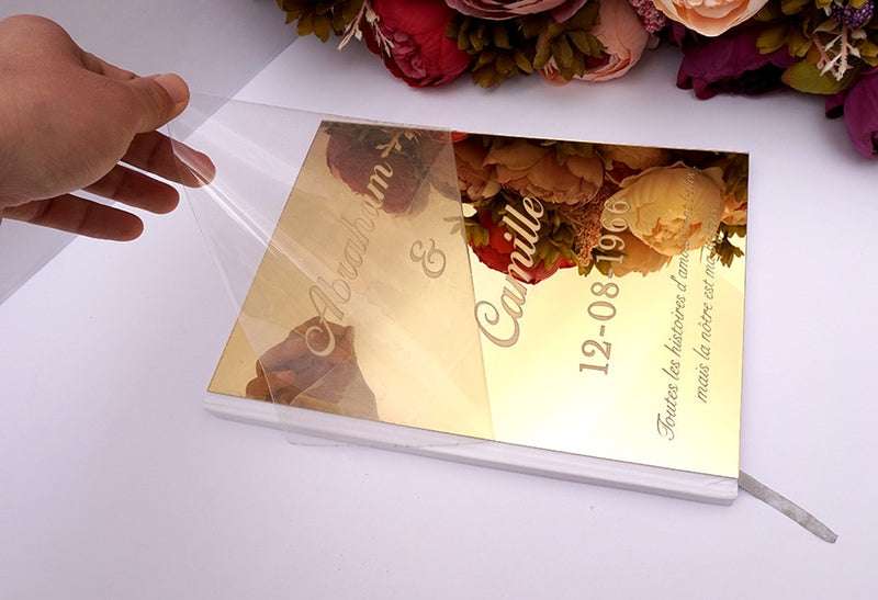Personalized Mirrored Wedding Guest Book - ChicShines