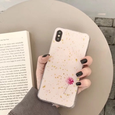 Luxury Gold Foil Bling Marble Phone Case - ChicShines