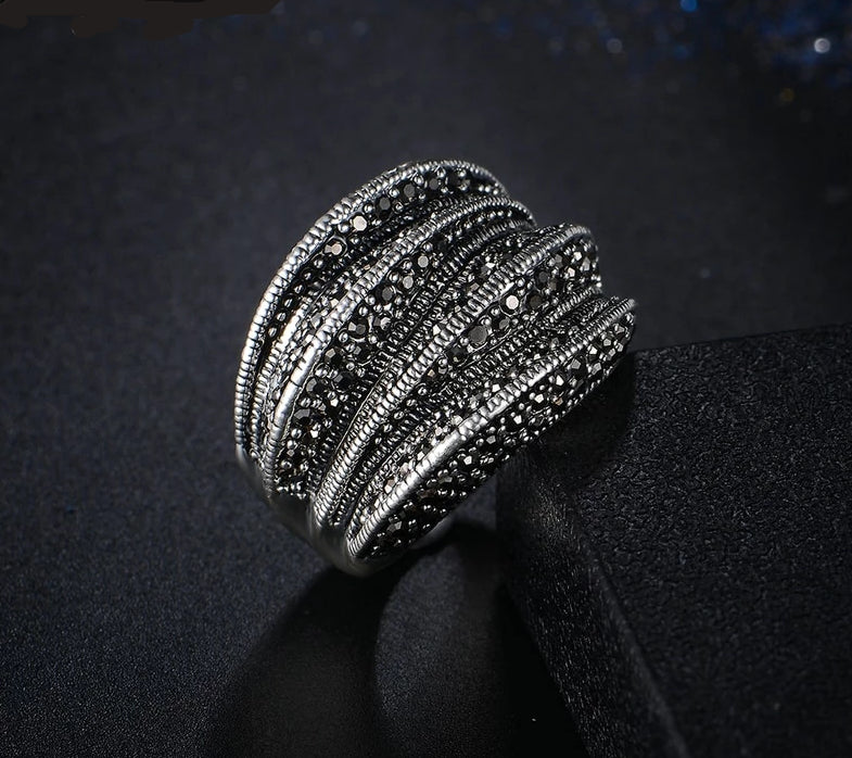 Black Pave Ring - ChicShines