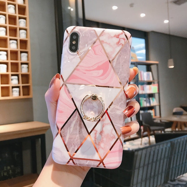 Geometric Marble Phone Case - ChicShines