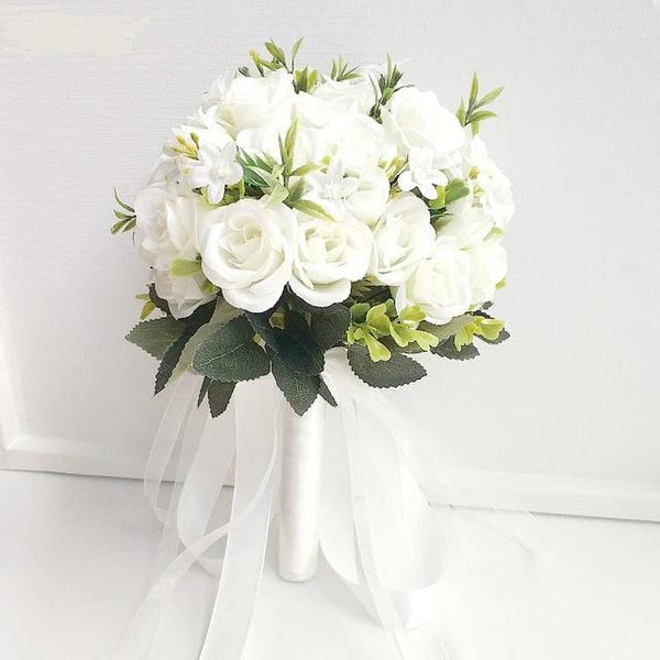 Small Bridal Silk Roses - Wedding Bouquets for Bridesmaids - ChicShines