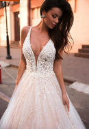 Mediterranean A- Line Wedding Dress - ChicShines