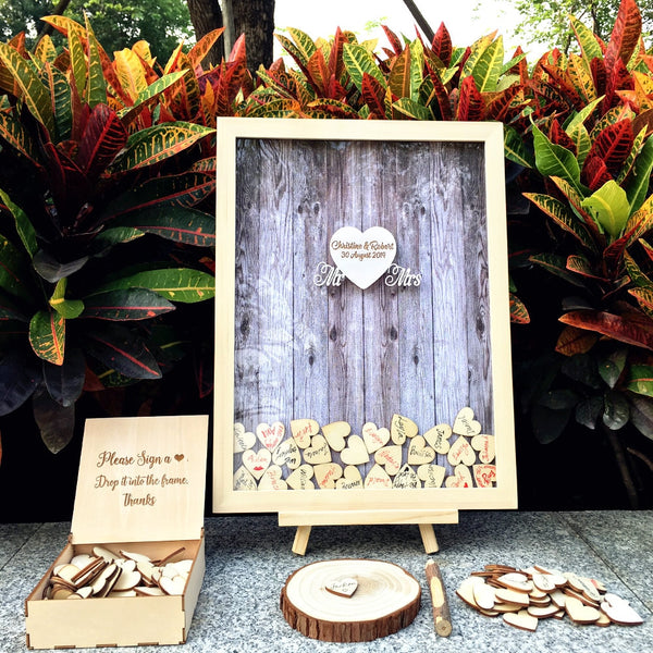 Rustic Heart Wedding Guestbook - 120 pcs - ChicShines