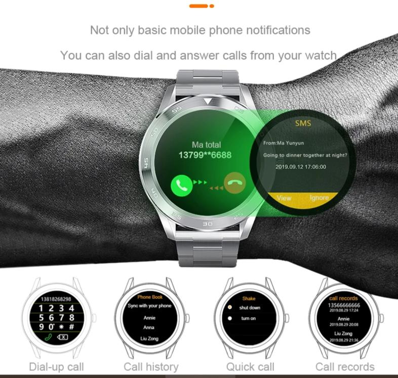 Round HD Smart Watch Bracelet - ChicShines