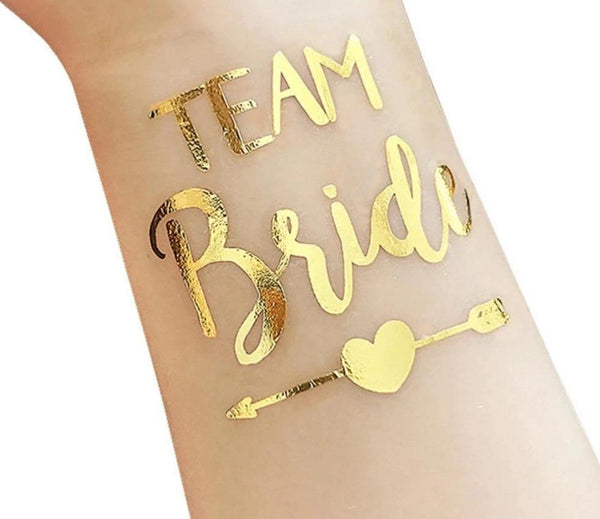 Waterproof Bridesmaid Team Temporary Tattoo - Bachelorette Party 10 ct - ChicShines