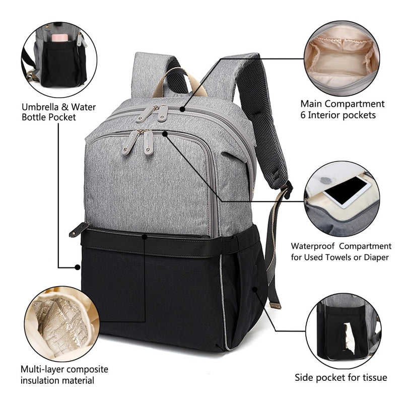 Alameda Maternity Diaper Bag - with USB Port