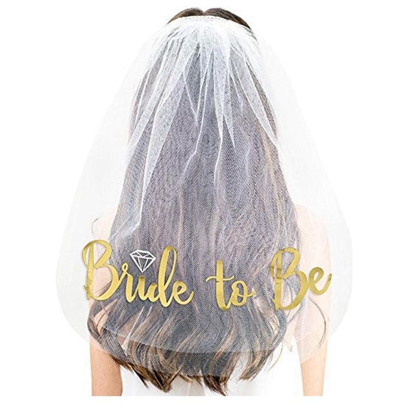 Veil & Tiara - Bride To Be - ChicShines