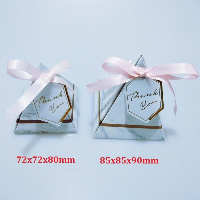 Pyramid Marble Candy Box - Wedding Favours - ChicShines
