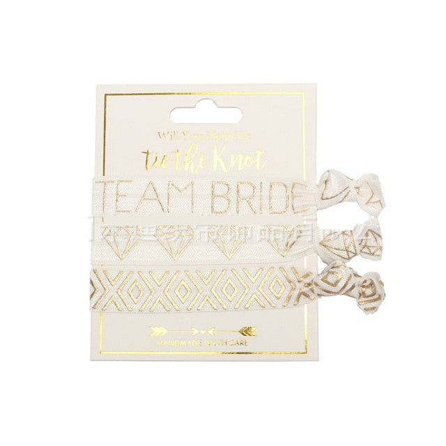 Team Bride Wrist ties and Badges - ChicShines