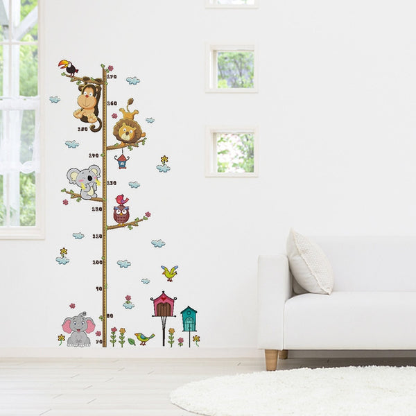Safari Animals Growth Chart- Wall Sticker - Nursery Ruler - ChicShines