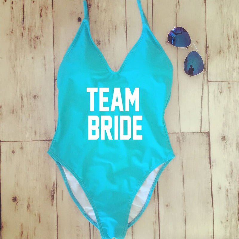 One Piece Swimsuit Backless - Bridal Party - ChicShines