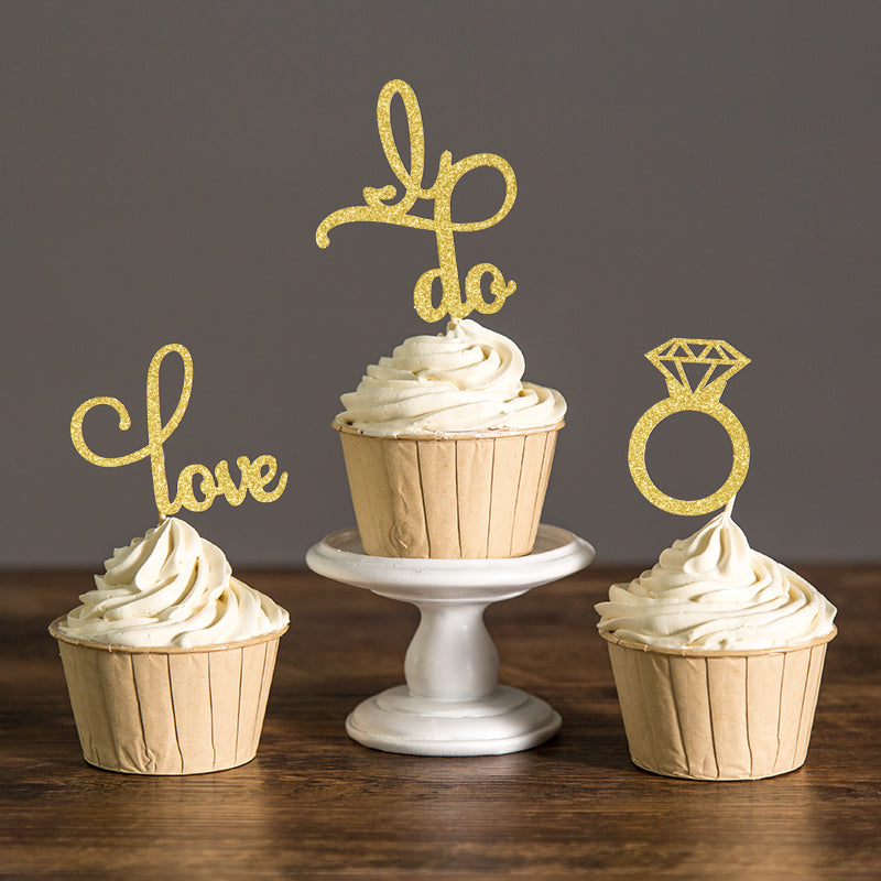 """I Do""Cupcake Toppers - Bridal Shower - ChicShines"