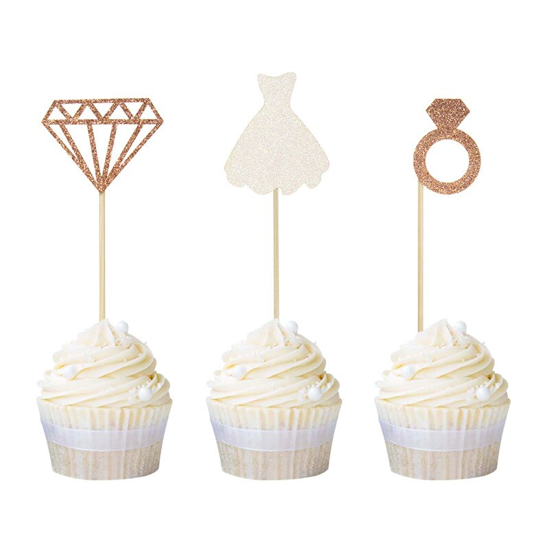 Diamond Ring - Cupcake Toppers - ChicShines