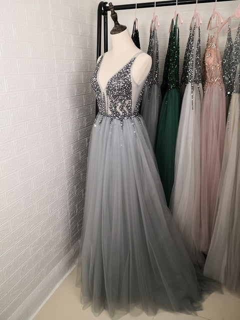 Mid-Night Glamour Evening Dress - ChicShines